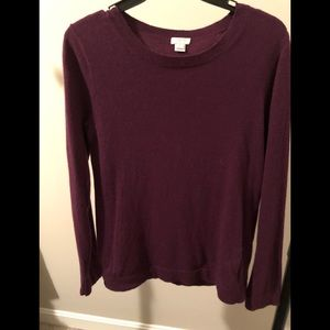 J crew cranberry color sweater